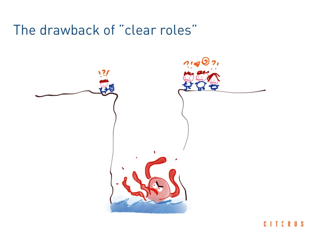 """The drawback of """"clear roles"""""""