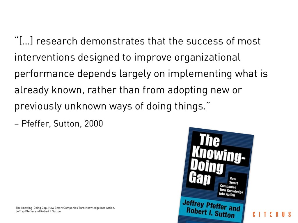 """""""[…] research demonstrates that the success of ..."""