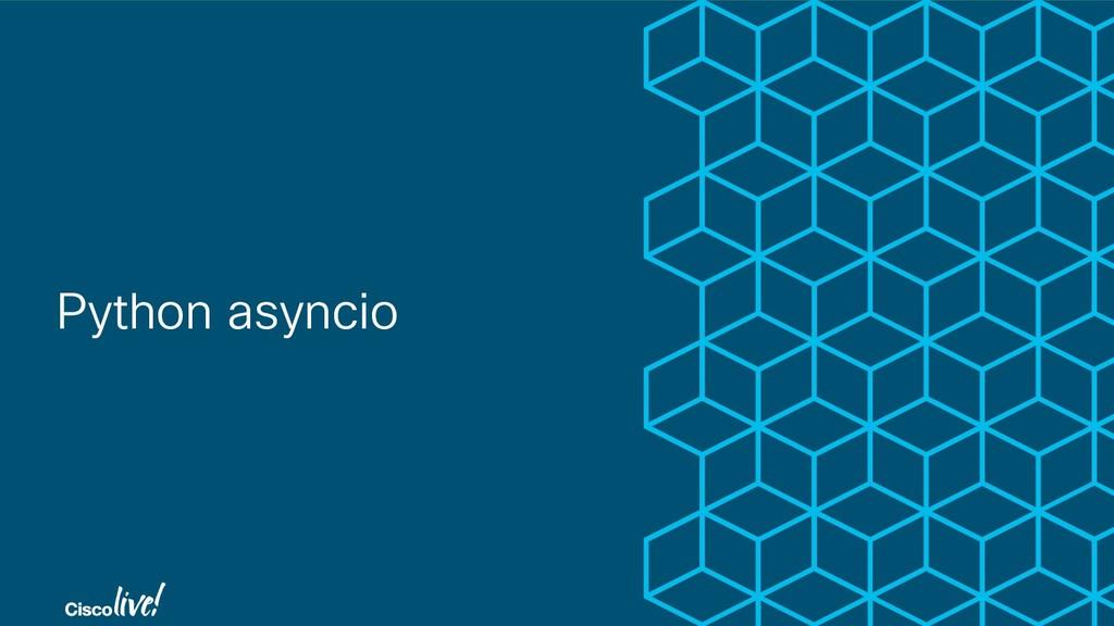 Python asyncio