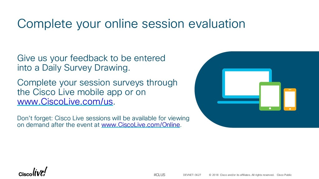 Complete your online session evaluation © 2018 ...