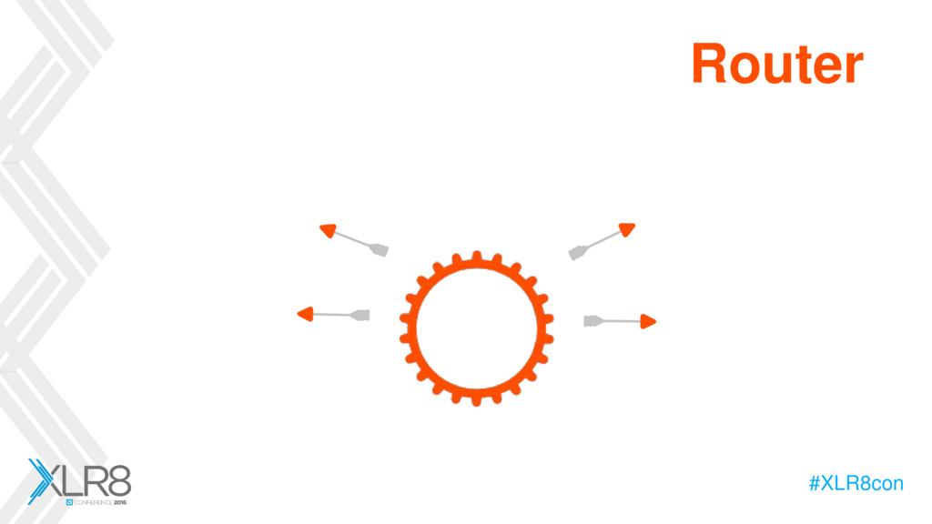#XLR8con Router