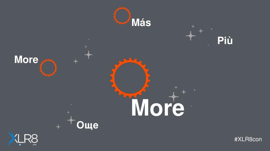 #XLR8con More More Más Още Più