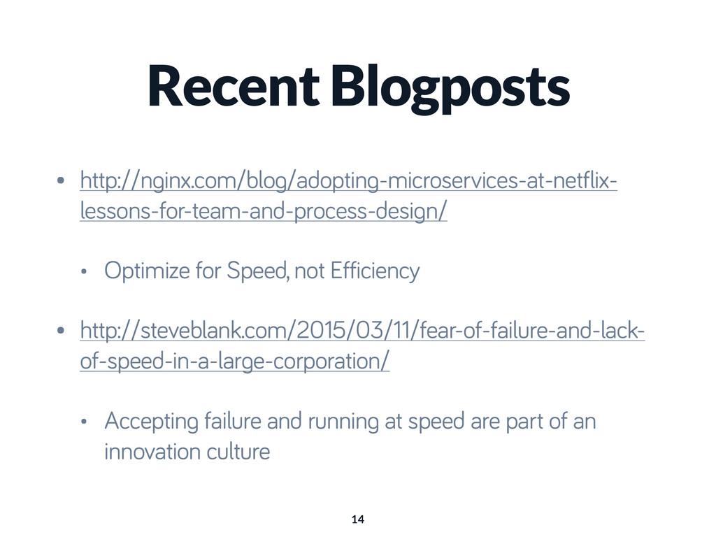 Recent Blogposts • http://nginx.com/blog/adopti...