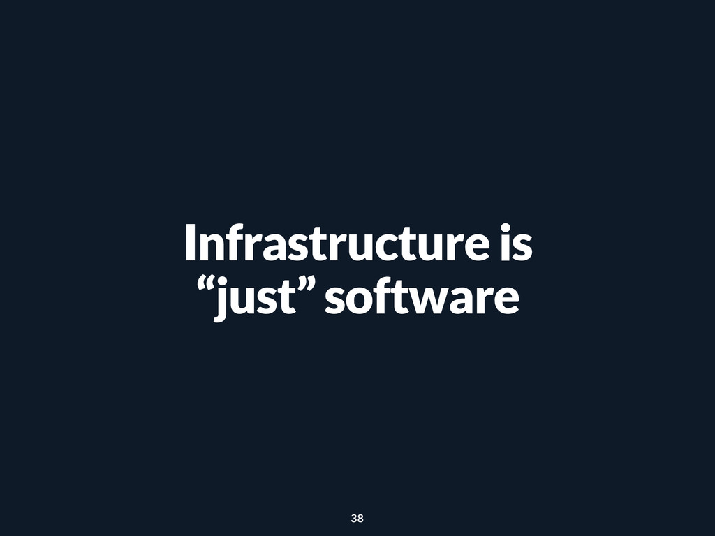 """Infrastructure is """"just"""" software 38"""