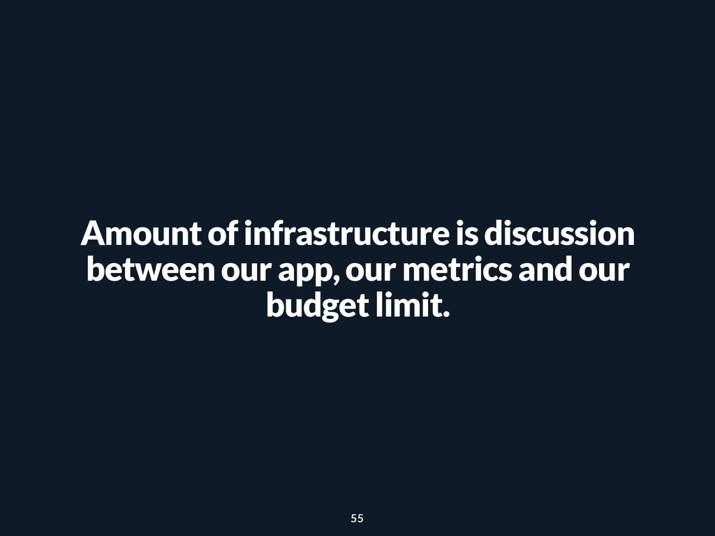 Amount of infrastructure is discussion between ...