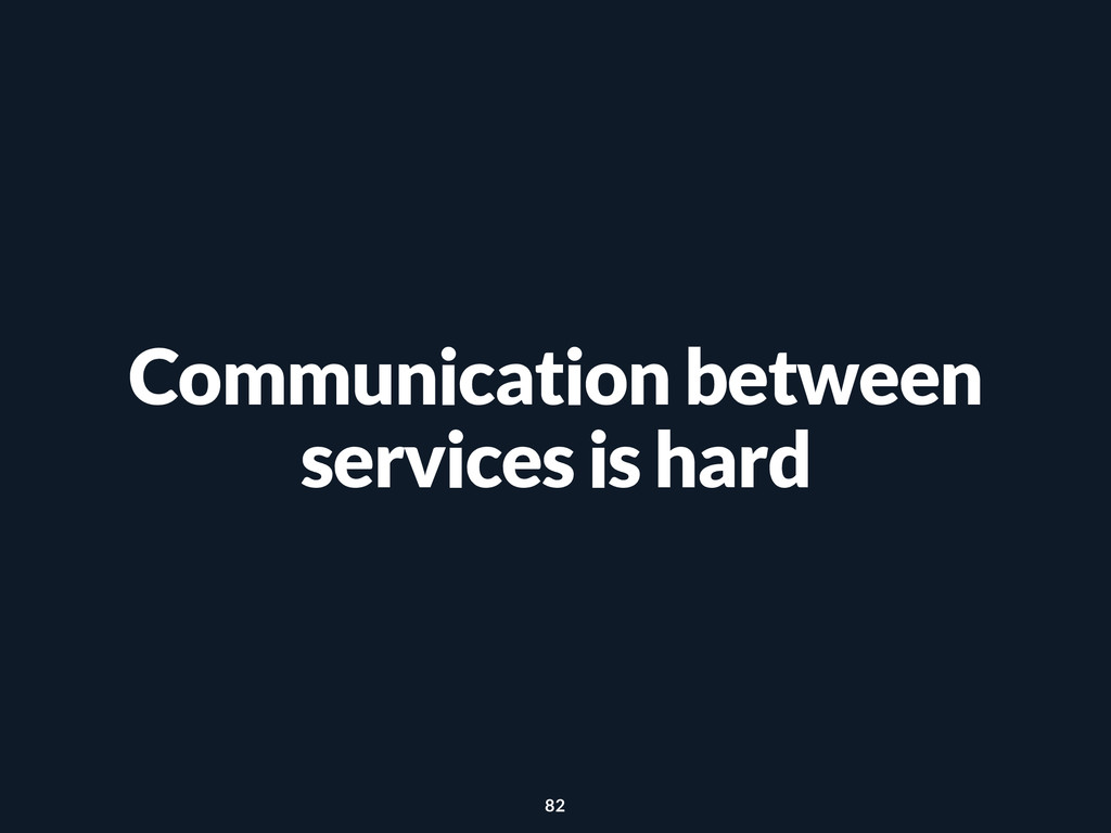 Communication between services is hard 82