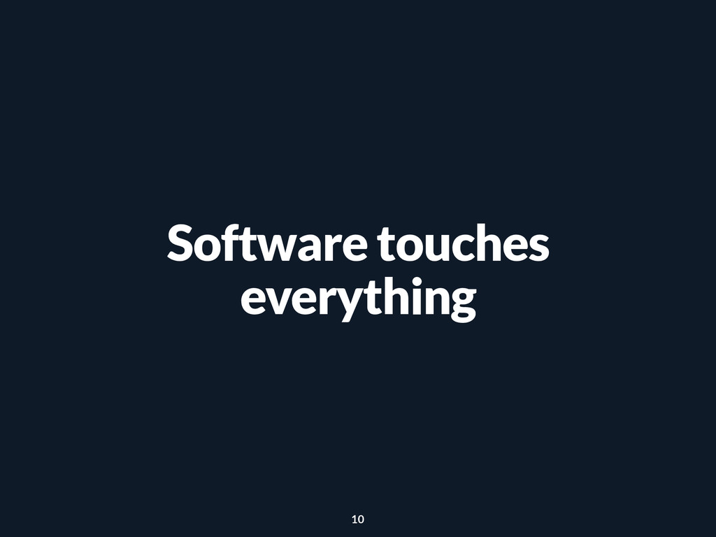 Software touches everything 10