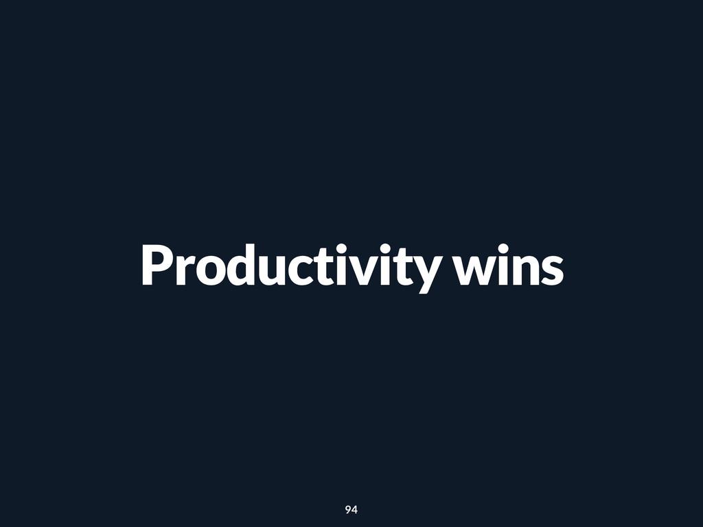 Productivity wins 94