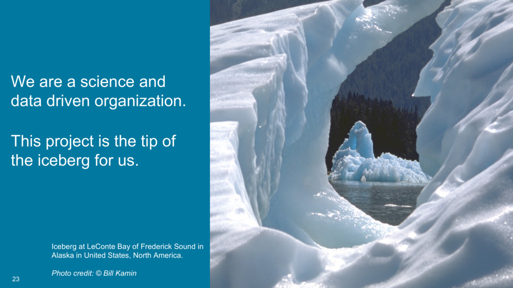23 We are a science and data driven organizatio...