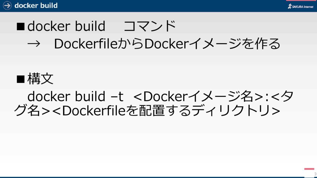 docker build ■docker build コマンド → DockerfileからD...