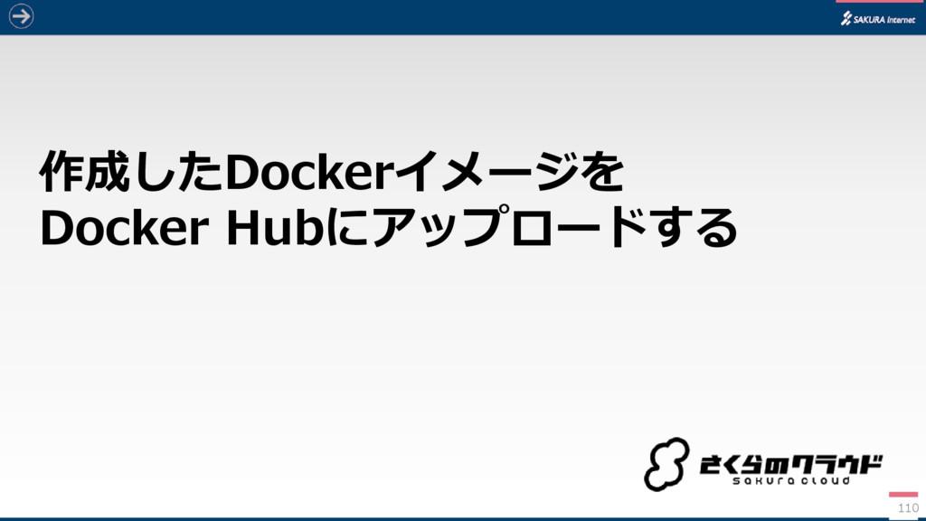 作成したDockerイメージを Docker Hubにアップロードする 110