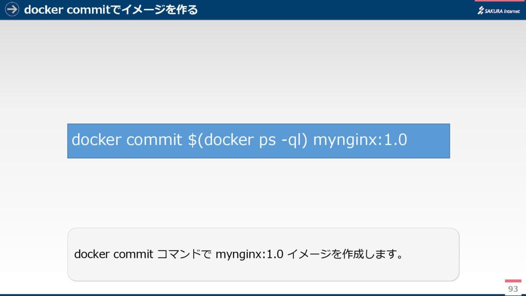 docker commitでイメージを作る 93 docker commit コマンドで my...