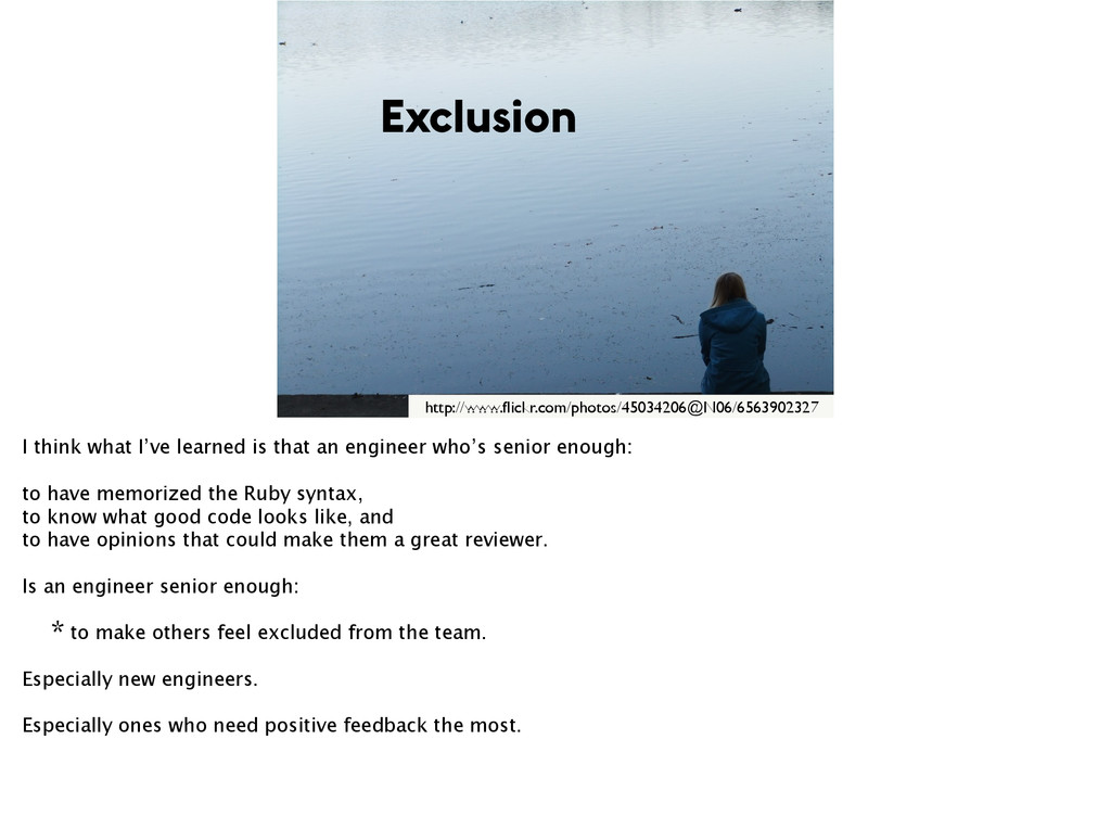 Exclusion http://www.flickr.com/photos/45034206@...