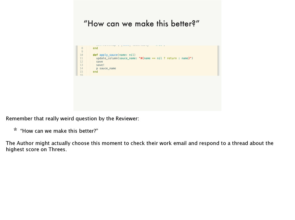 "of NOT ALL CODE CAN BE A WINNER ""How can we mak..."