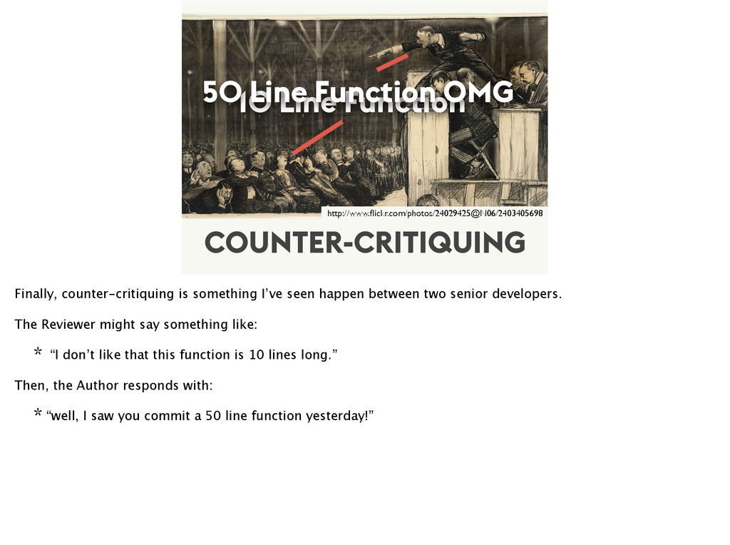 COUNTER-CRITIQUING 10 Line Function 50 Line Fun...