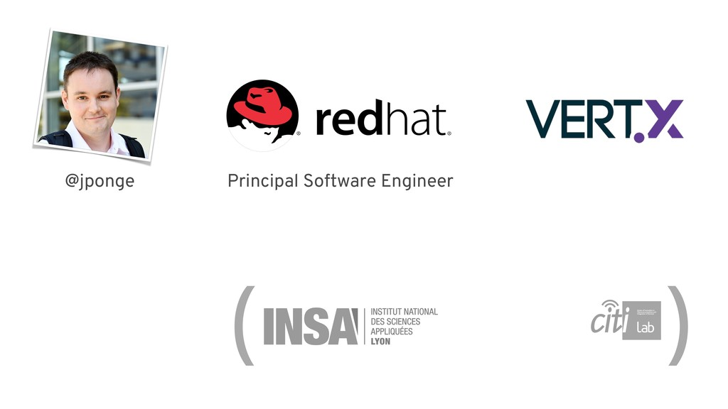Principal Software Engineer ( ) @jponge