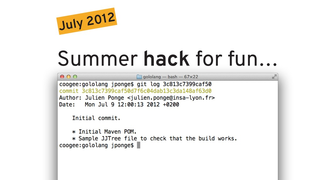 July 2012 Summer hack for fun…
