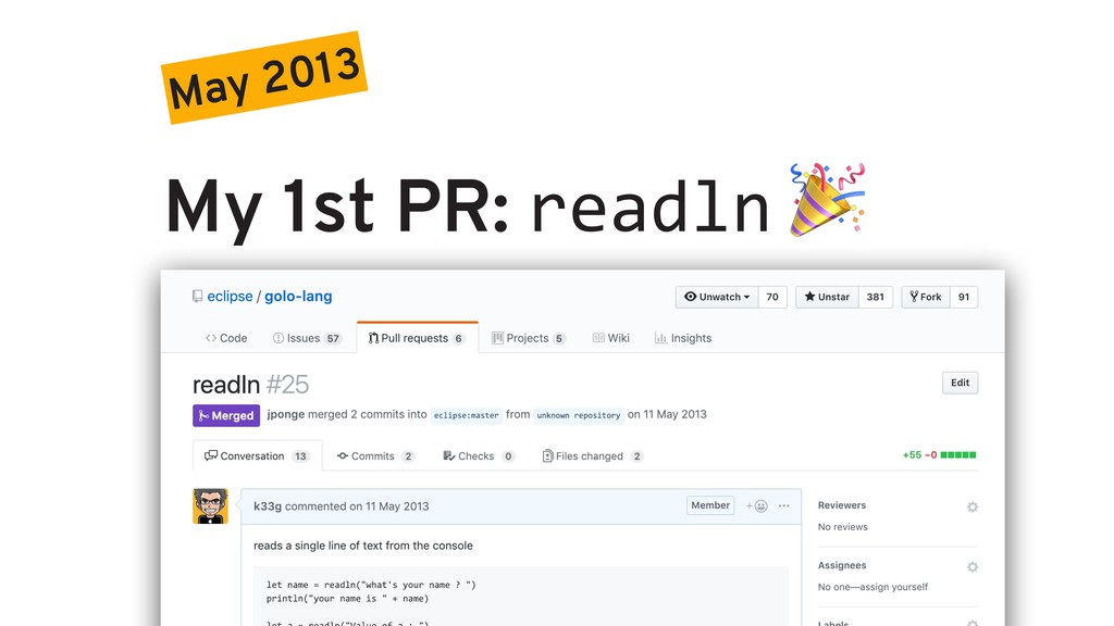 May 2013 My 1st PR: readln