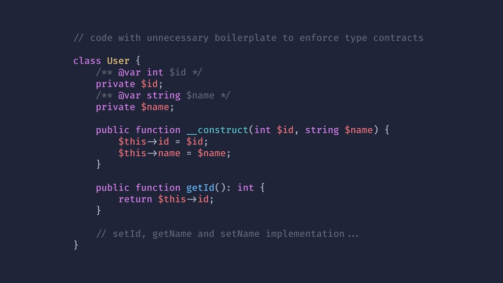 !// code with unnecessary boilerplate to enforc...