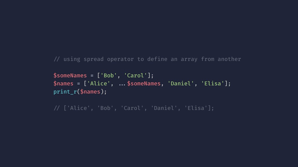 !// using spread operator to define an array fr...