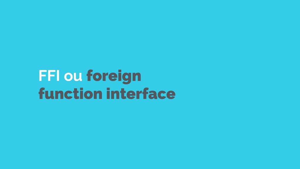 FFI ou foreign