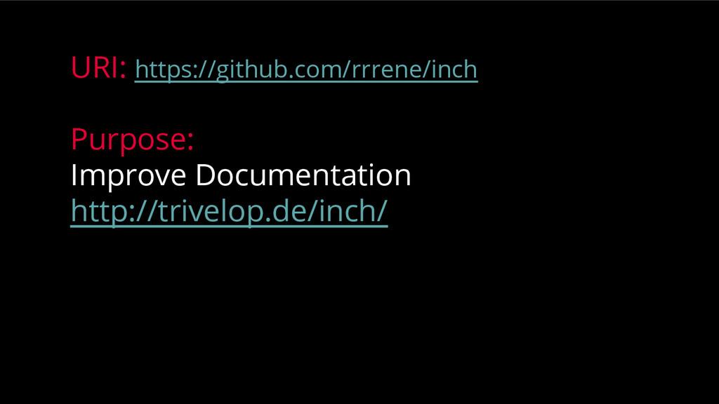 URI: https://github.com/rrrene/inch Purpose: Im...