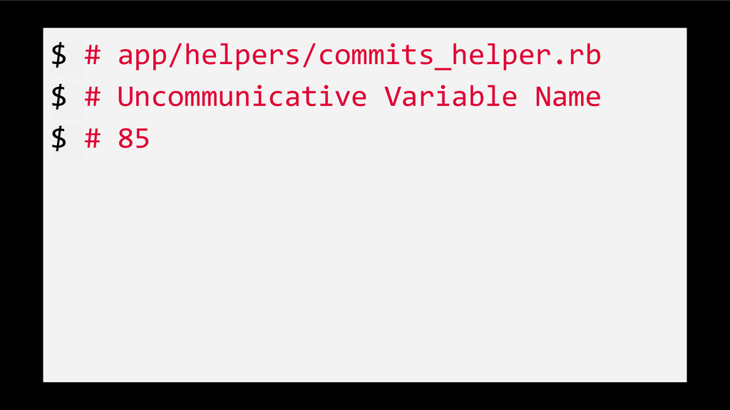 $ # app/helpers/commits_helper.rb $ # Uncommuni...