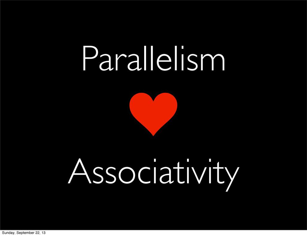 Parallelism Associativity Sunday, September 22,...