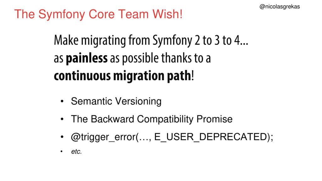 The Symfony Core Team Wish! • Semantic Versioni...