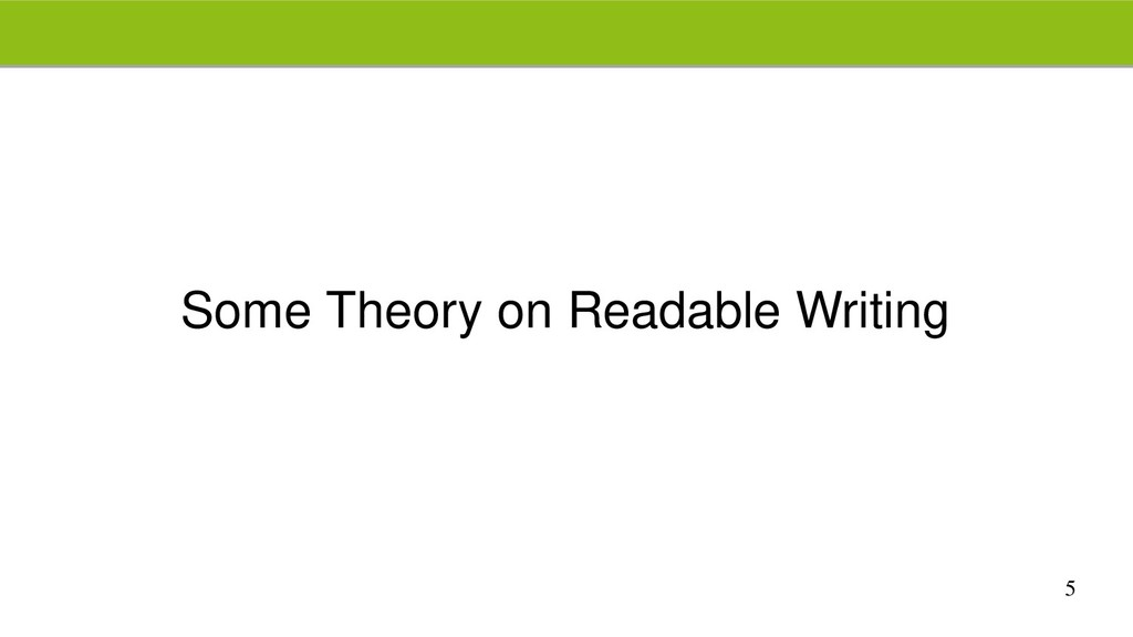 5 Some Theory on Readable Writing