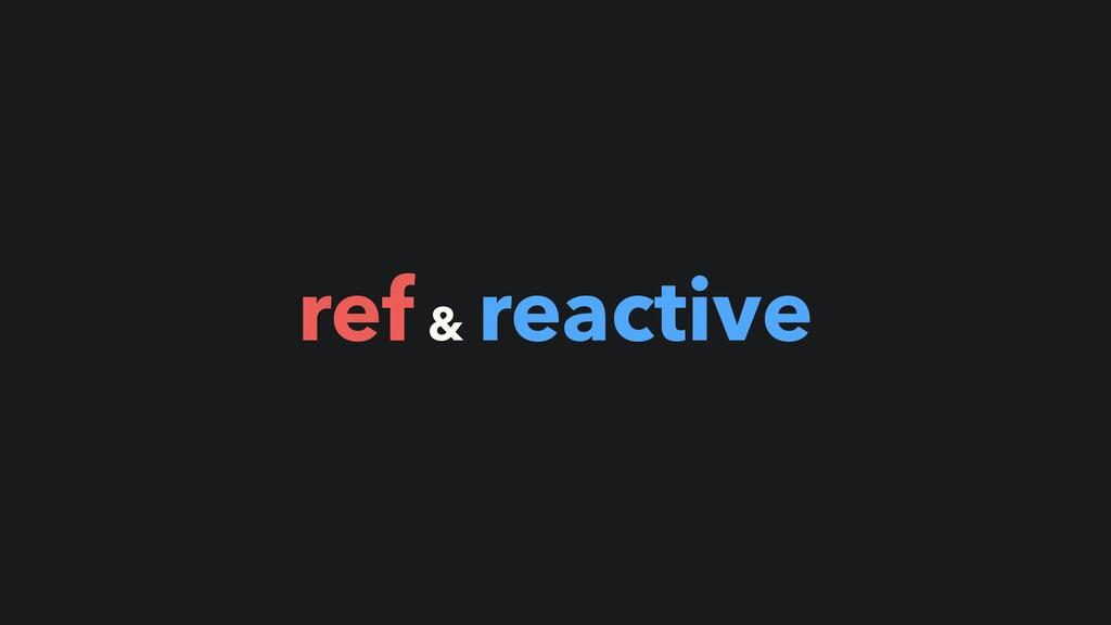 ref & reactive