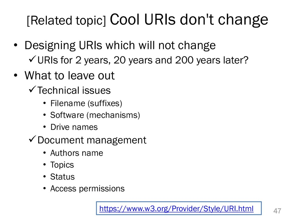 [Related topic] Cool URIs don't change • Design...