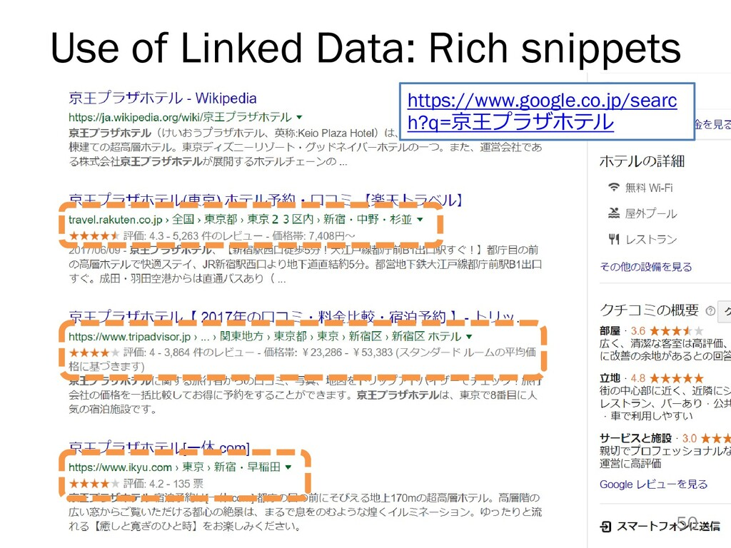 Use of Linked Data: Rich snippets 50 https://ww...