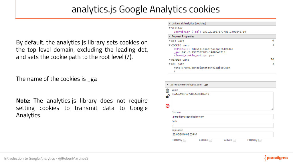 analytics.js Google Analytics cookies