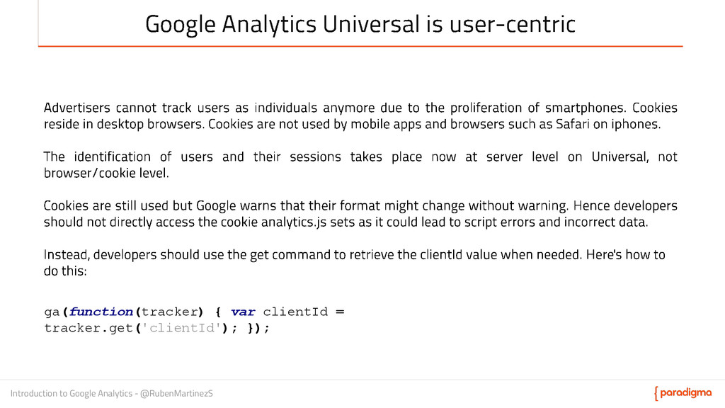 Introduction to Google Analytics - @RubenMartin...