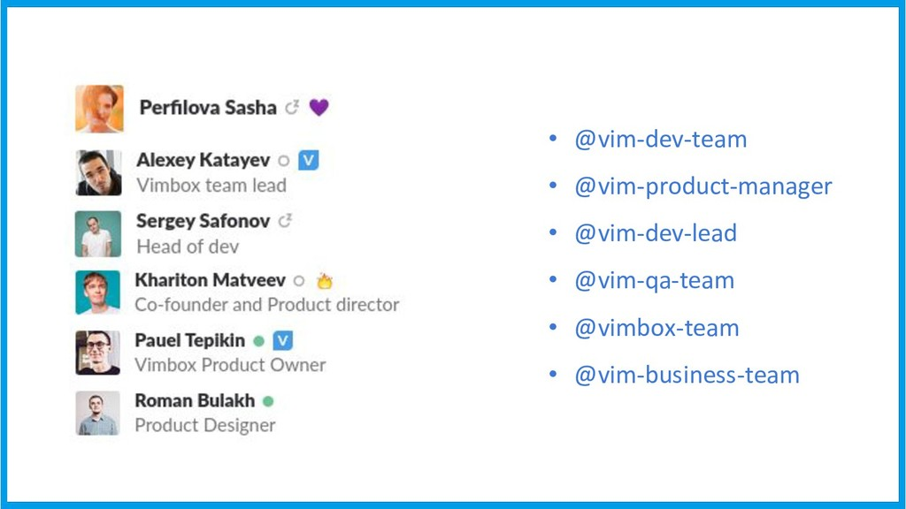 • @vim-dev-team • @vim-product-manager • @vim-d...
