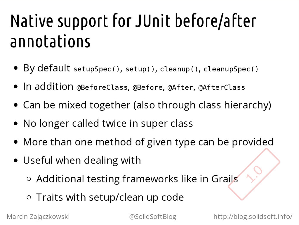 Native support for JUnit before/after annotatio...