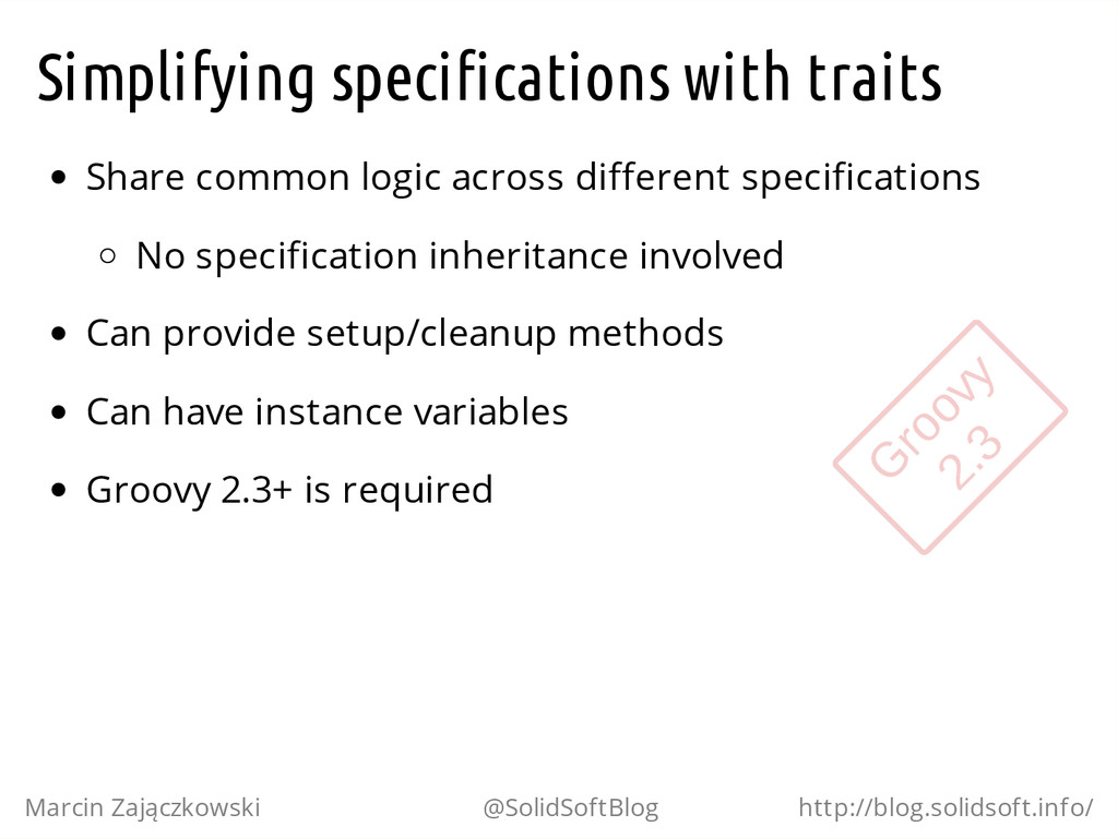 Simplifying specifications with traits Share co...