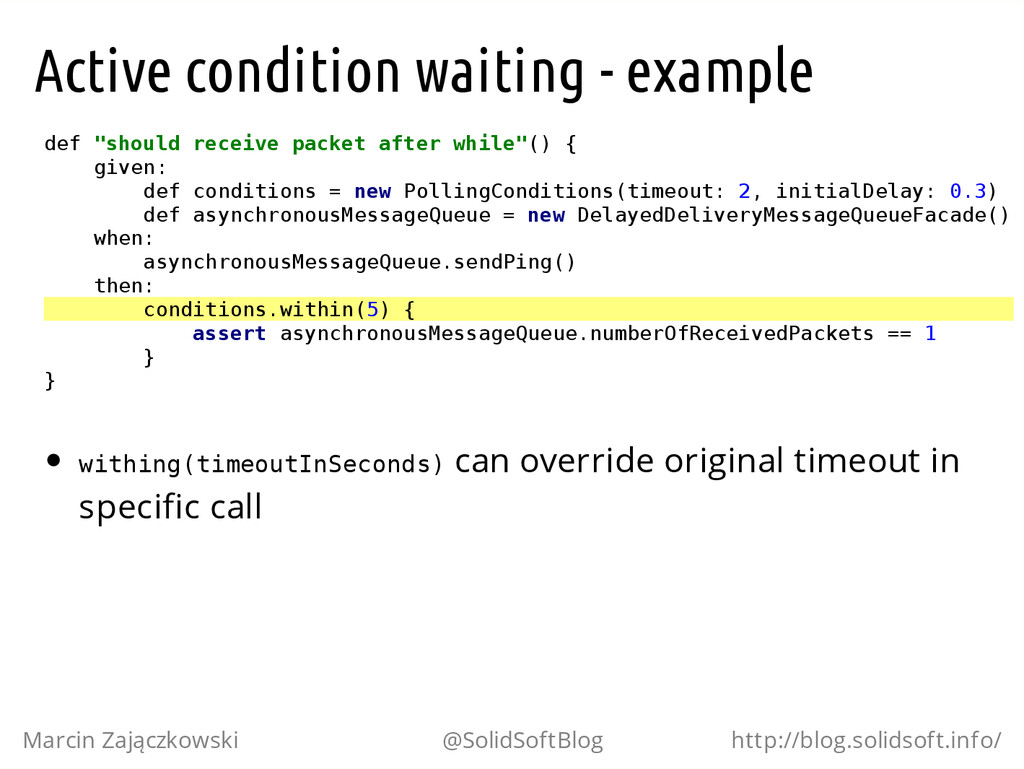 "Active condition waiting - example d e f "" s h ..."