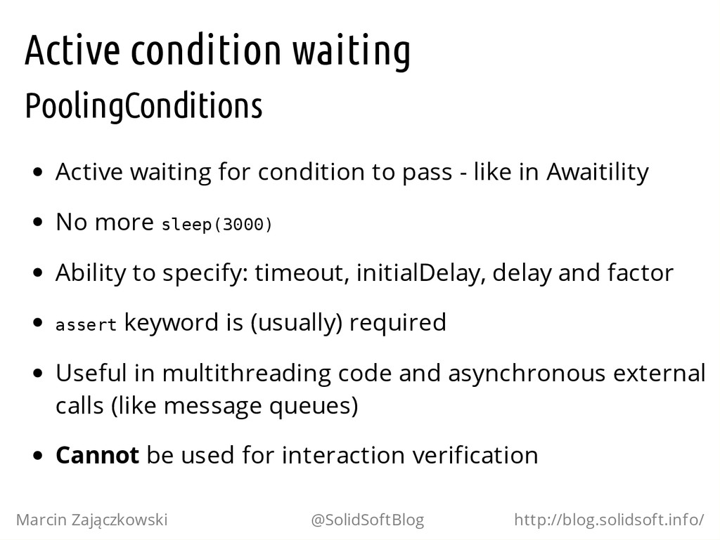 Active condition waiting PoolingConditions Acti...