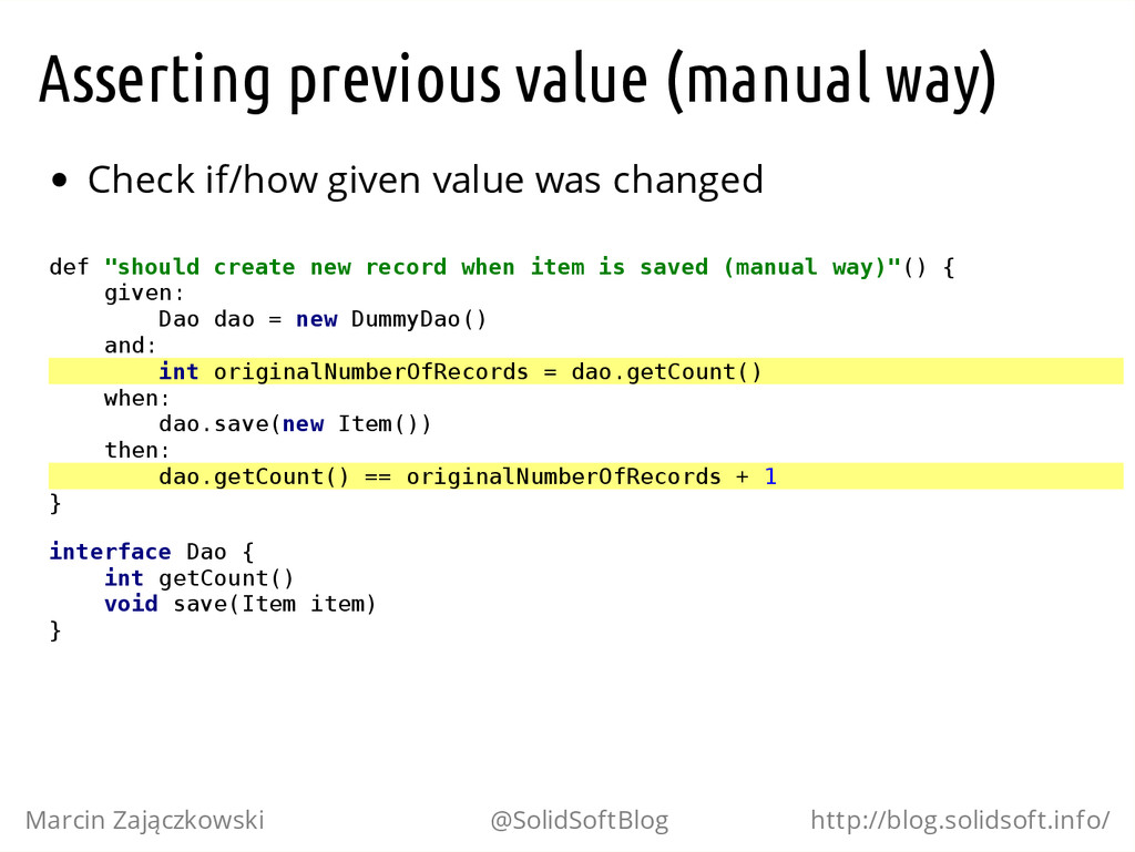 Asserting previous value (manual way) Check if/...