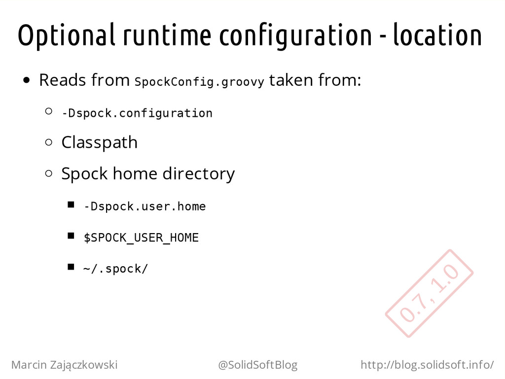 Optional runtime configuration - location Reads...