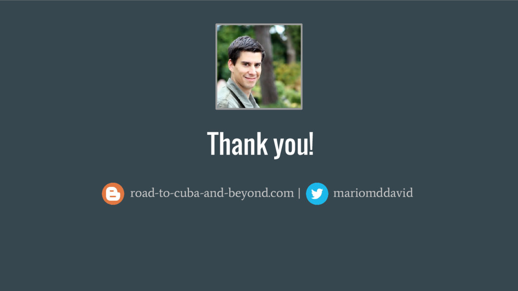 Thank you! road-to-cuba-and-beyond.com | mariom...