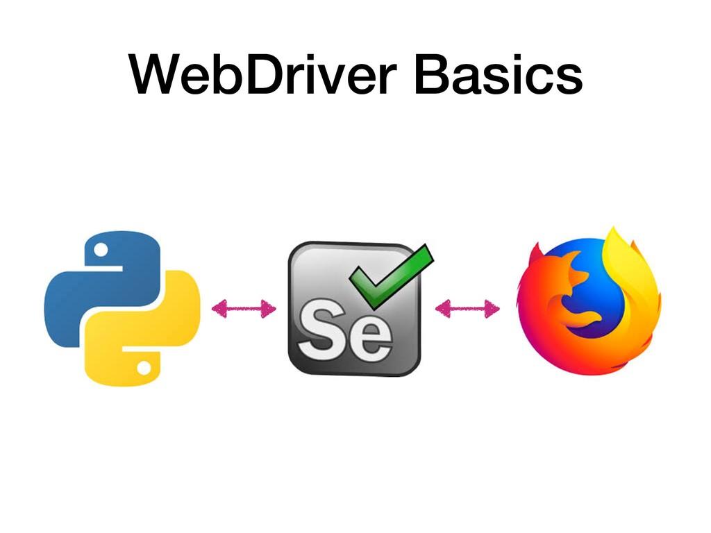 WebDriver Basics