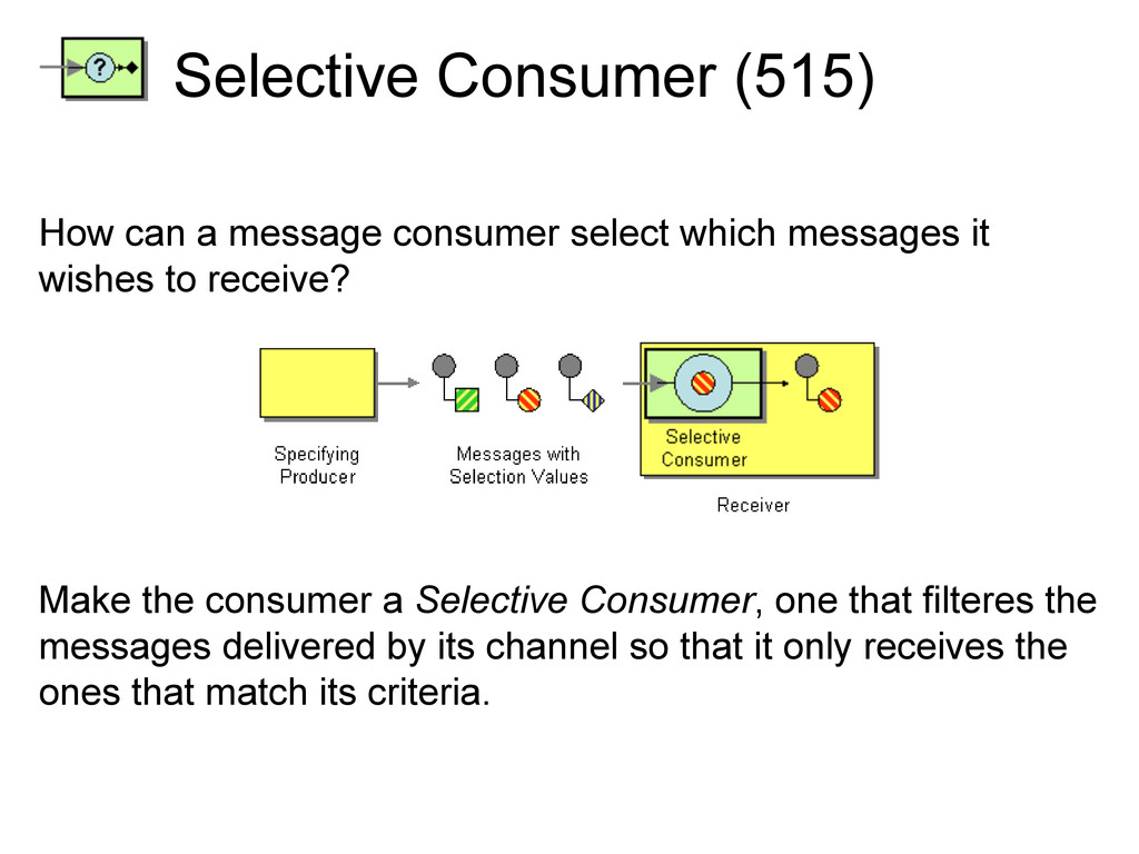 Selective Consumer (515) How can a message cons...
