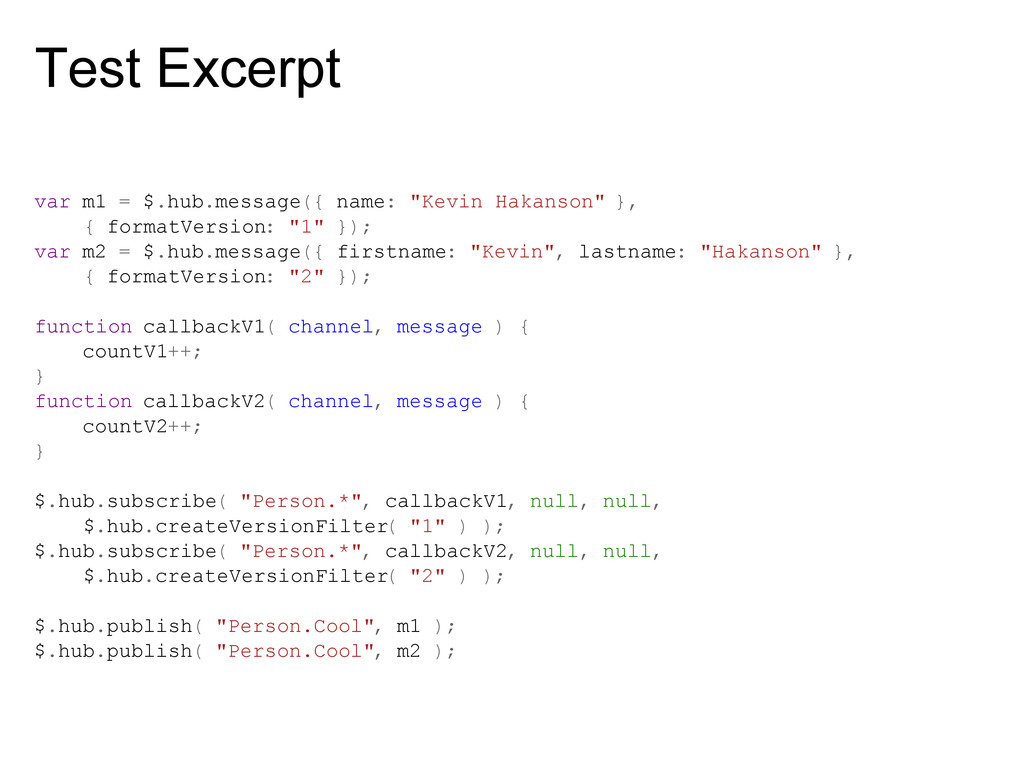 "Test Excerpt var m1 = $.hub.message({ name: ""Ke..."