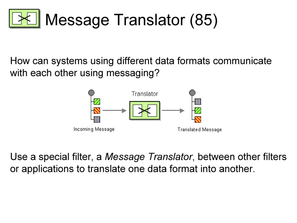 Message Translator (85) How can systems using d...