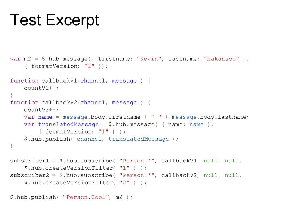 Test Excerpt var m2 = $.hub.message({ firstname...