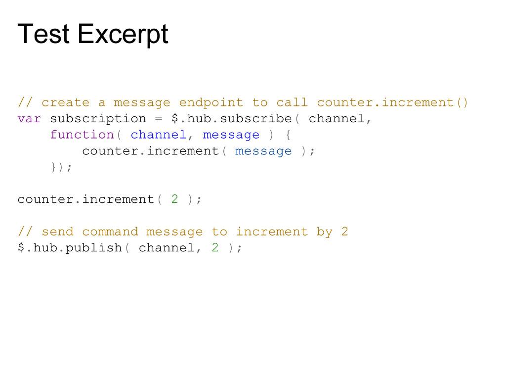 Test Excerpt // create a message endpoint to ca...