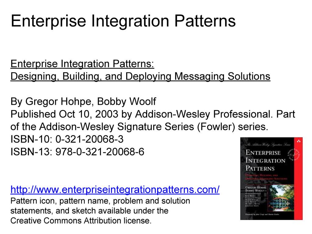 Enterprise Integration Patterns Enterprise Inte...